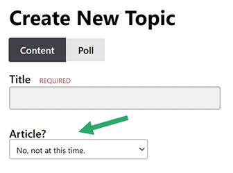 Click Article Dropdown Option