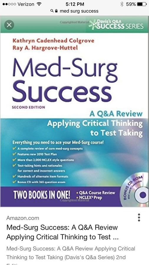 New Nursing Student Going Into MedSurg Any Advice Page 2