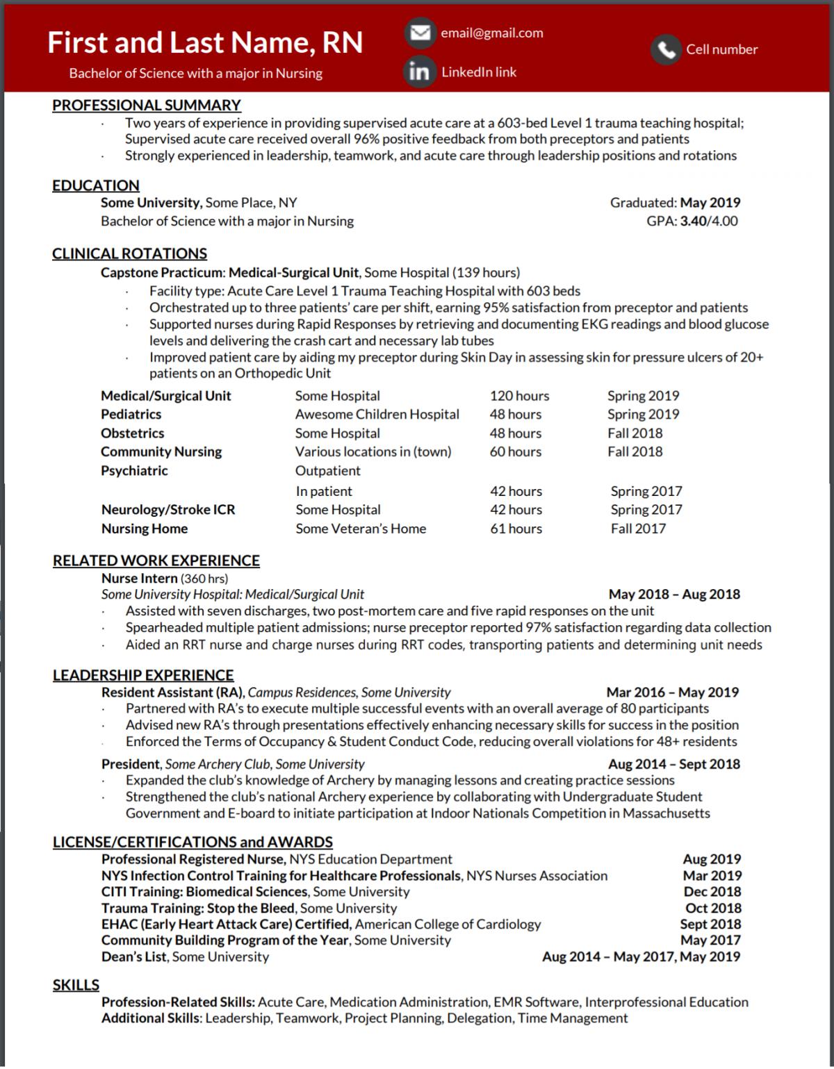 New Grad Rn Resume Advice Needed Resume Advice Allnurses