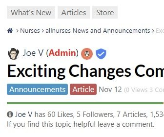 Exciting Changes Coming To allnurses