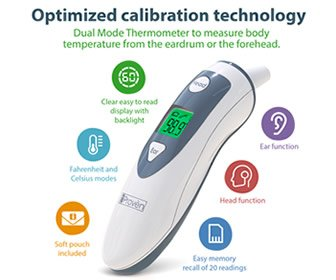 View the product iProvèn Medical Ear Thermometer DTM-489 with Forehead Function