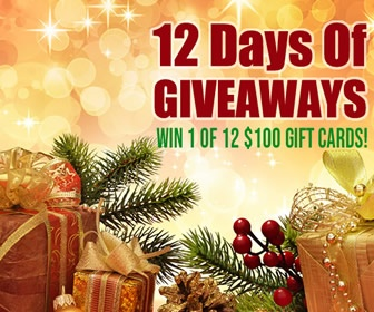 12 Days of Giveaways | Win 1 of 12 $100 Gift Cards