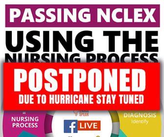 POSTPONED LIVE EVENT: Using the Nursing Process to Pass NCLEX