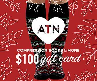 $100 Gift Card courtesy of ATN Compression Socks